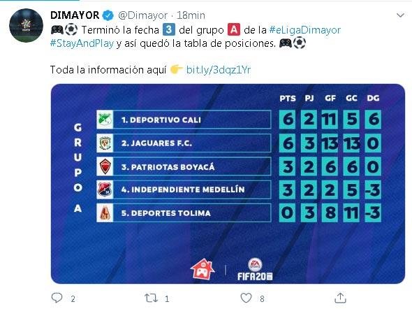 Segundo partido, segundo triunfo para Deportivo Cali en la Eliga Dimayor 1