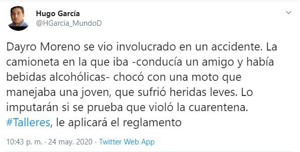 Dayro Moreno, involucrado en accidente de tránsito 1