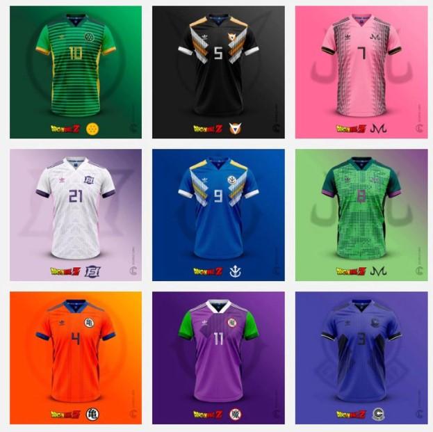 ¡Camisetas futboleras inspiradas en Dragon Ball! 1