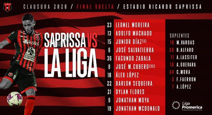 Saprissa 1 vs 0 Alajuelense por la FINAL de vuelta de la Liga de Costa Rica 2