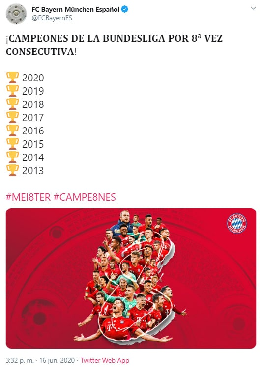 Bayern Múnich, campeón, Bundesliga 2019-20, celebración