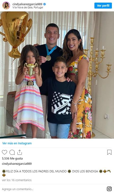 Cindy Álvarez, Mateus Uribe, Día del Padre (3)