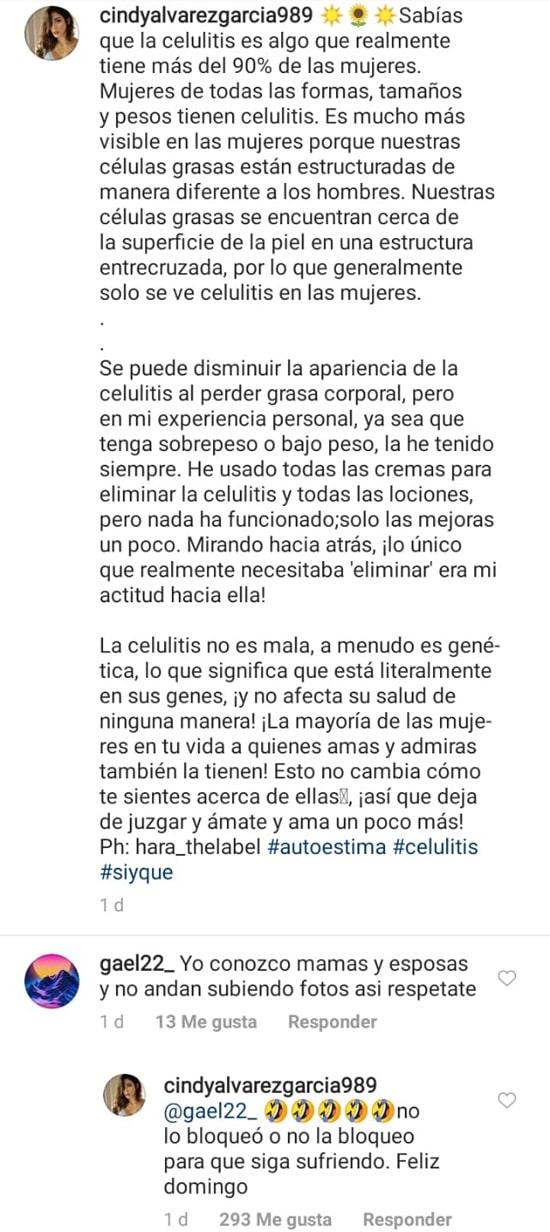 "Cindy Álvarez, Mateus Uribe, ""respétate"""