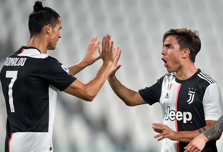 Cristiano Ronaldo, Paulo Dybala, Juventus 4-0 Lecce, Serie A 2019-20