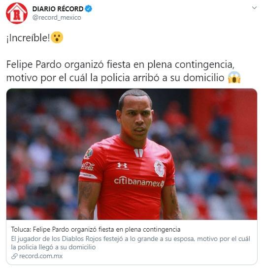 Felipe Pardo, Diario Récord