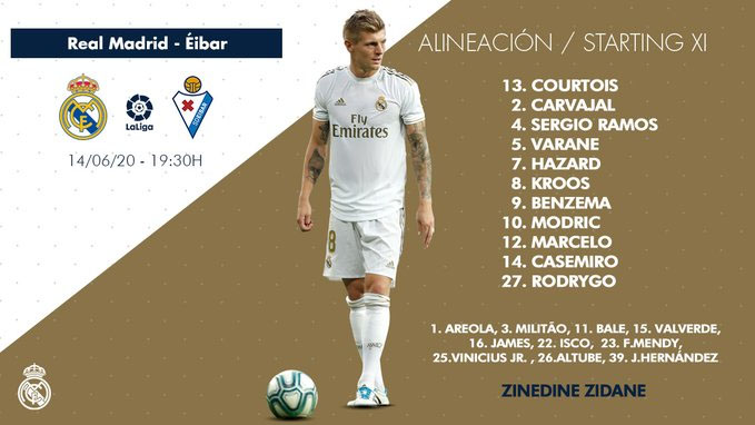 James Rodríguez, suplente, Real Madrid, SD Eibar, LaLiga 2019-20