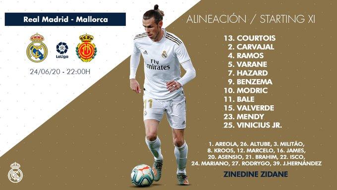 James Rodríguez, suplente, Real Madrid vs. Mallorca, LaLiga 2019-20