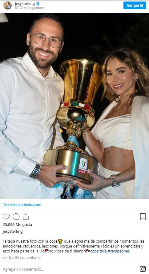Jessica Sterling, David Ospina, publicación, Copa Italia 2019-20