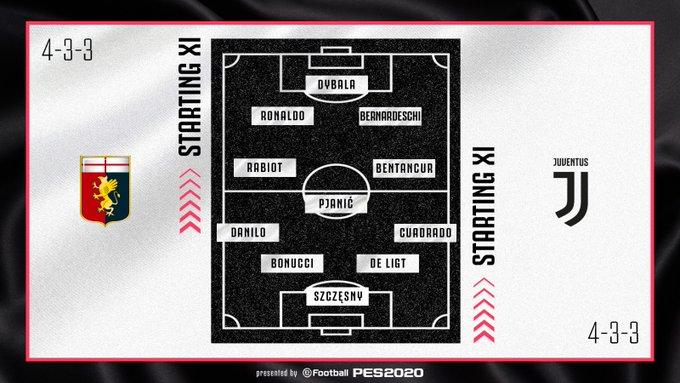 Juan Guillermo Cuadrado, titular, Genoa vs. Juventus, Serie A 2019-20