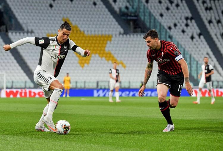 Juventus FC 0-0 AC Milan, Copa Italia 2019-20, Cristiano Ronaldo