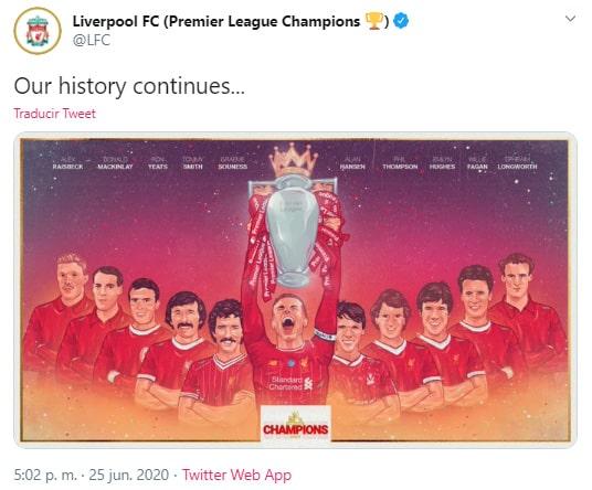 Liverpool FC, celebración, Premier League 2019-20, campeón (1)