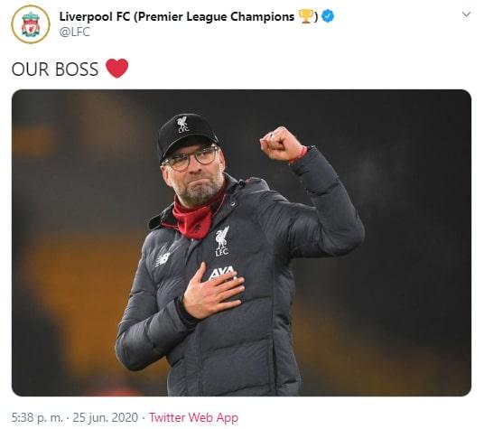 Liverpool FC, celebración, Premier League 2019-20, campeón (2)