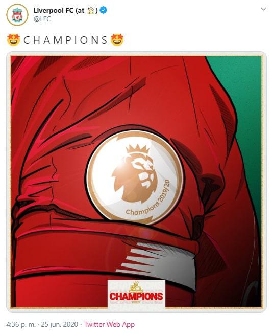 Liverpool, Premier League 2019-20, campeón (1)