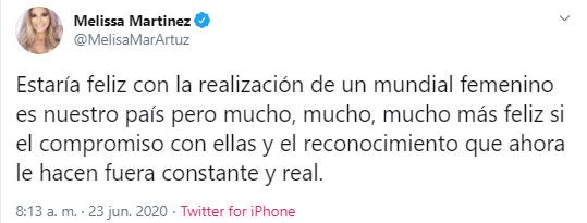 Melissa Martínez, Copa Mundial Femenina 2023