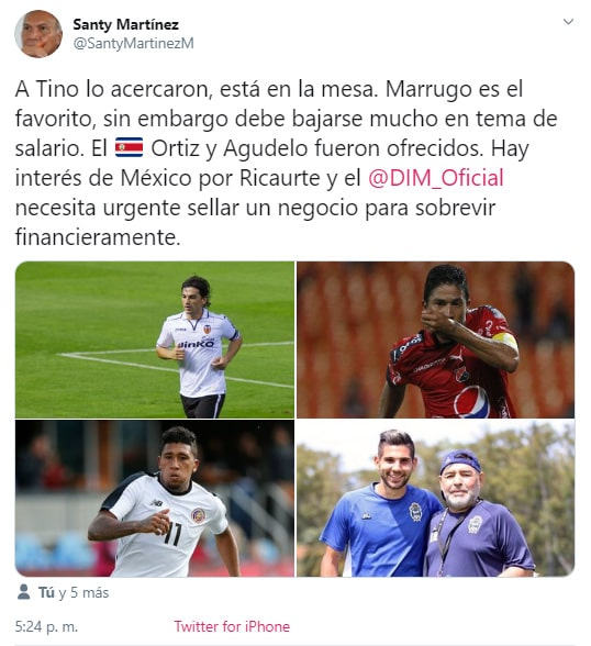 Santy Martínez, Alberto 'Tino' Costa