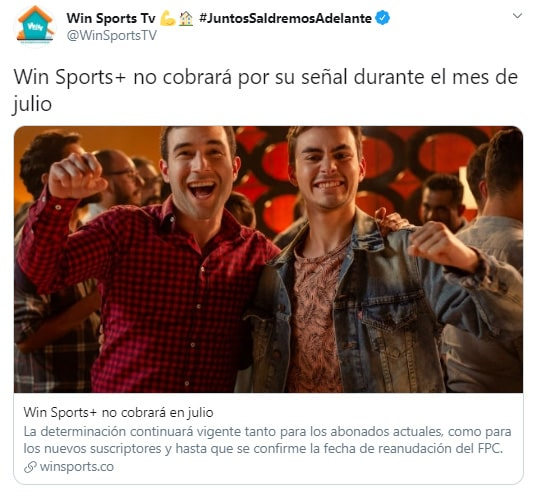 Win Sports, Win Sports +, señal premium, julio 2020
