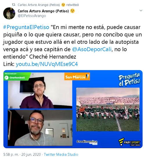 Cheché Hernández América de Cali