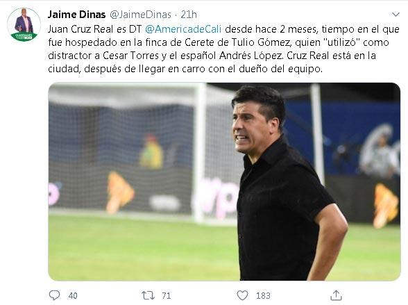 Juan Cruz Real América de Cali