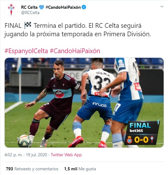 Celta de Vigo, Jeison Murillo, evitó descenso, LaLiga 2019-20