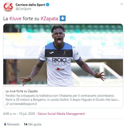 Corriere dello Sport, Duván Zapata, Juventus