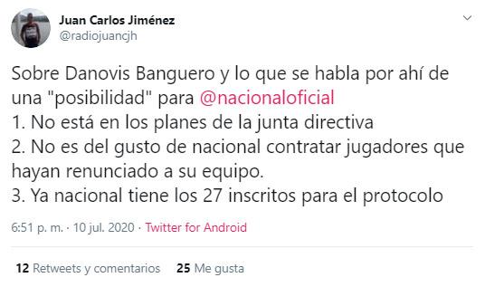 Danovis Banguero, renuncia, Deportes Tolima, Atlético Nacional, Juan Carlos Jiménez
