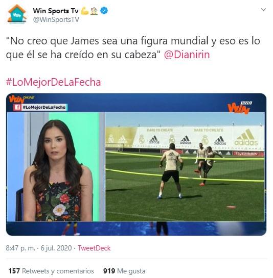 Diana Rincón, James Rodríguez, opinión