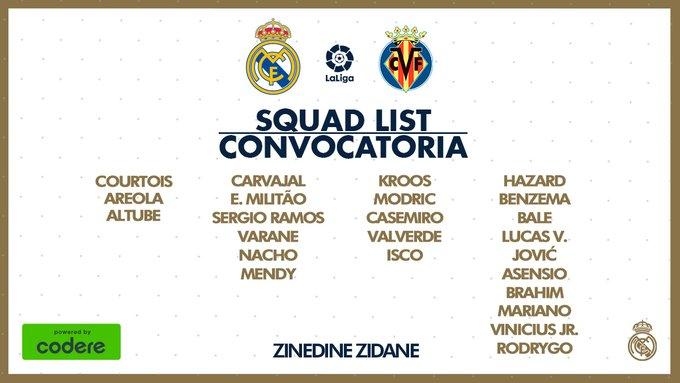 James Rodríguez, Real Madrid vs. Villarreal, convocatoria, LaLiga 2019-20