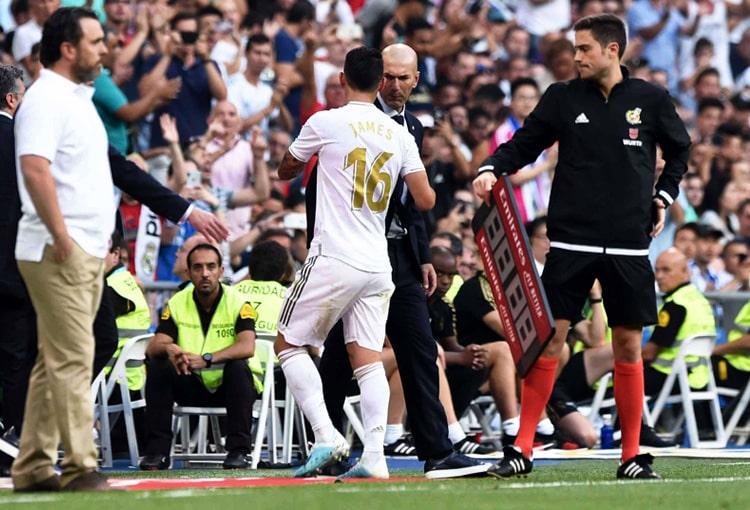 James Rodríguez, Zinedine Zidane, Real Madrid, LaLiga 2019-20