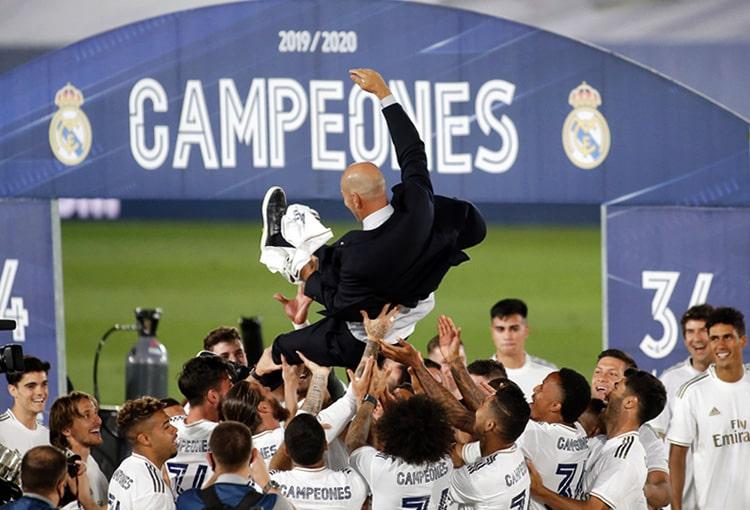 James Rodríguez, Zinedine Zidane, Real Madrid, campeón, LaLiga 2019-20