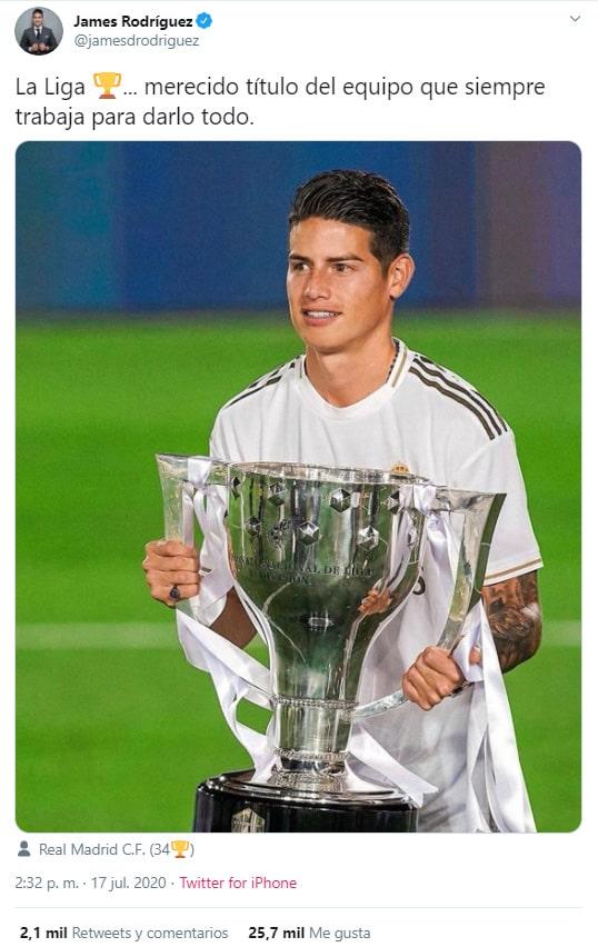 James Rodríguez, título, Real Madrid, LaLiga 2019-20
