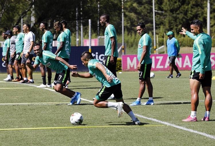 Jarlan Barrera, Vladimir Hernández, Atlético Nacional, entrenamiento