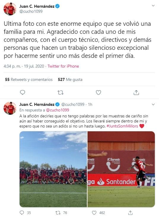 Juan Camilo Hernández, despedida, RCD Mallorca