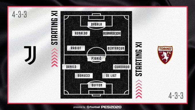 Juan Guillermo Cuadrado, Juventus vs. Torino, Serie A 2019-20, formación titular