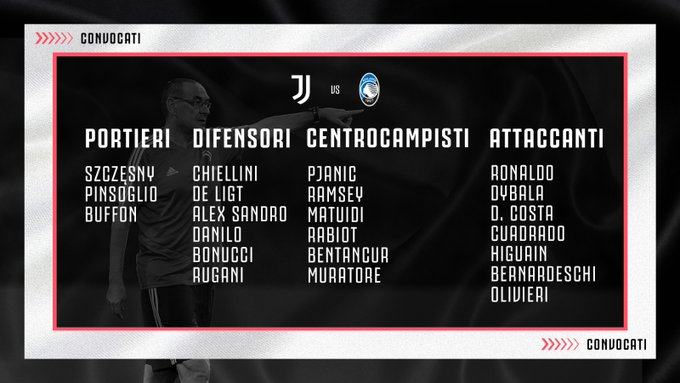 Juan Guillermo Cuadrado, convocatoria, Juventus vs. Atalanta, Serie A 2019-20