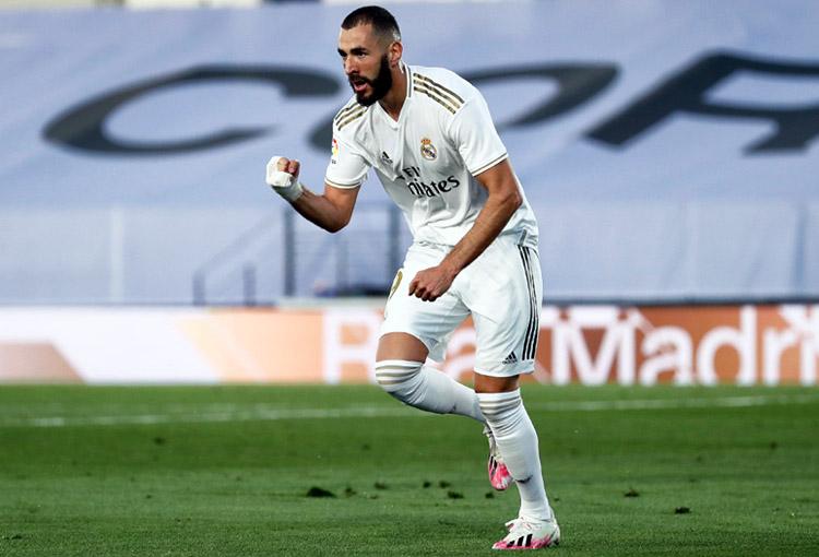 Karim Benzema, Real Madrid, campeón, LaLiga 2019-20