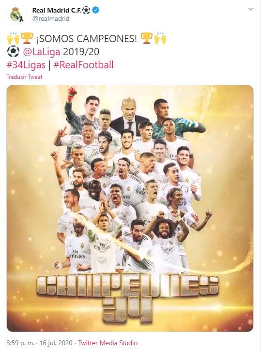 Real Madrid, campeón, LaLiga 2019-20, celebración