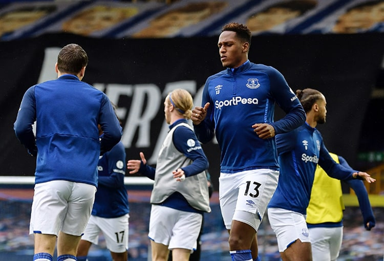 Yerry Mina, Everton 1-1 Southampton, Premier League 2019-20