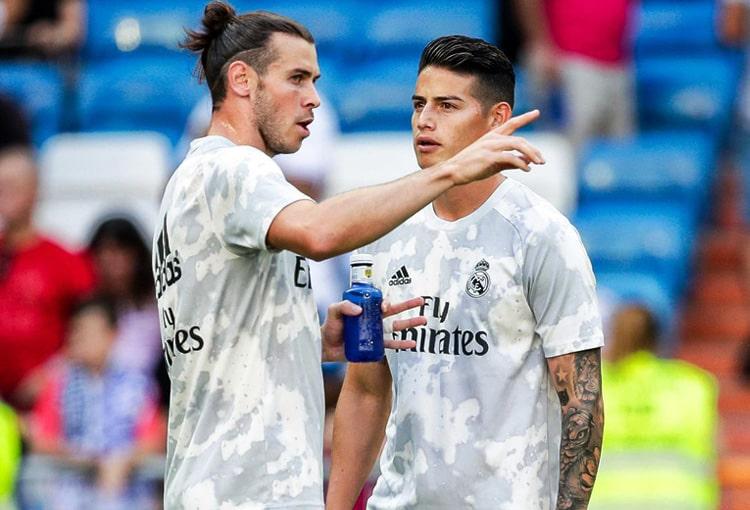 Zinedine Zidane, James Rodríguez, Gareth Bale, Real Madrid, LaLiga 2019-20
