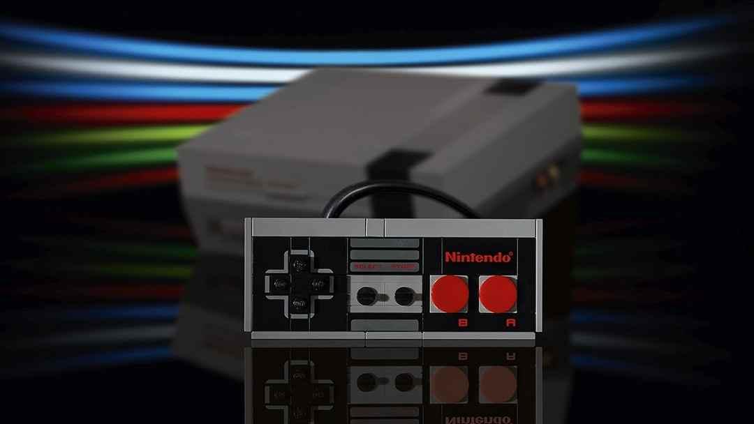 Control o mando clásico de Nintendo de la época