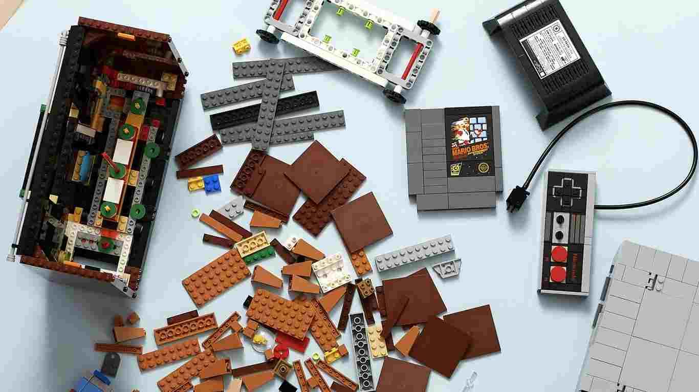 Colección Nintendo y Lego fichas para armar