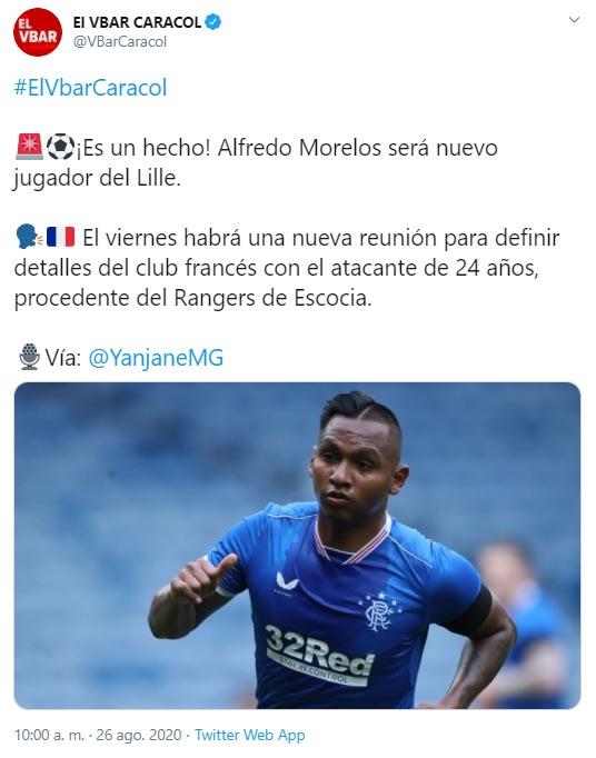 Alfredo Morelos, Rangers, Lille