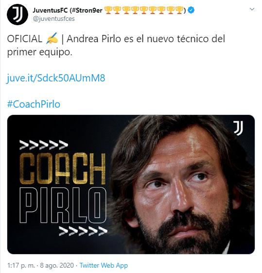 Andrea Pirlo, nuevo director técnico, Juventus FC, presentación