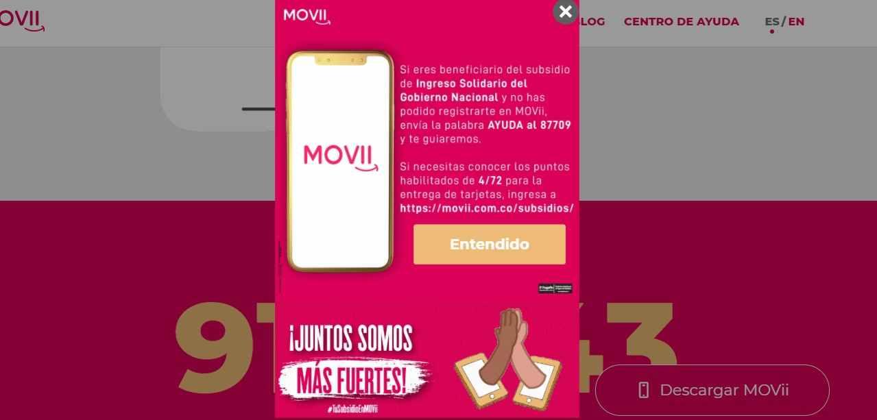 Aprenda a cobrar el Ingreso Solidario con tarjeta MOVii