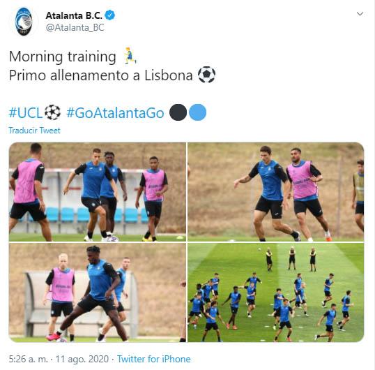 Atalanta, París Saint-Germain, Champions League 2019-20, Luis Fernando Muriel, Duván Zapata (2)