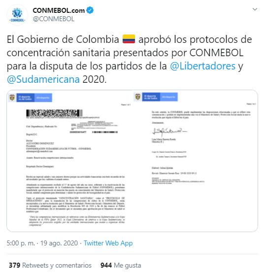Atlético Nacional, Conmebol, Copa Sudamericana 2020