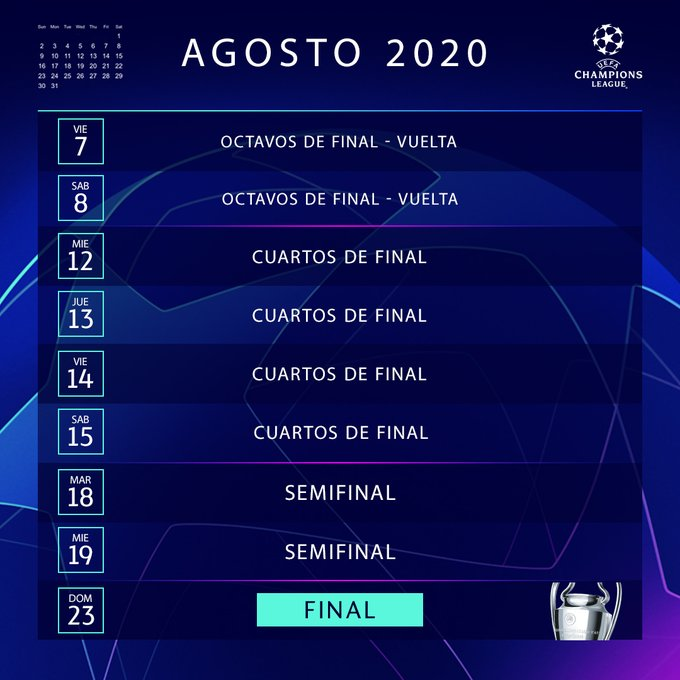 Champions League 2019-20, colombianos, fixture