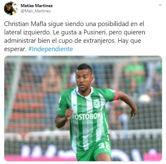 Christian Mafla, Club Atlético Independiente