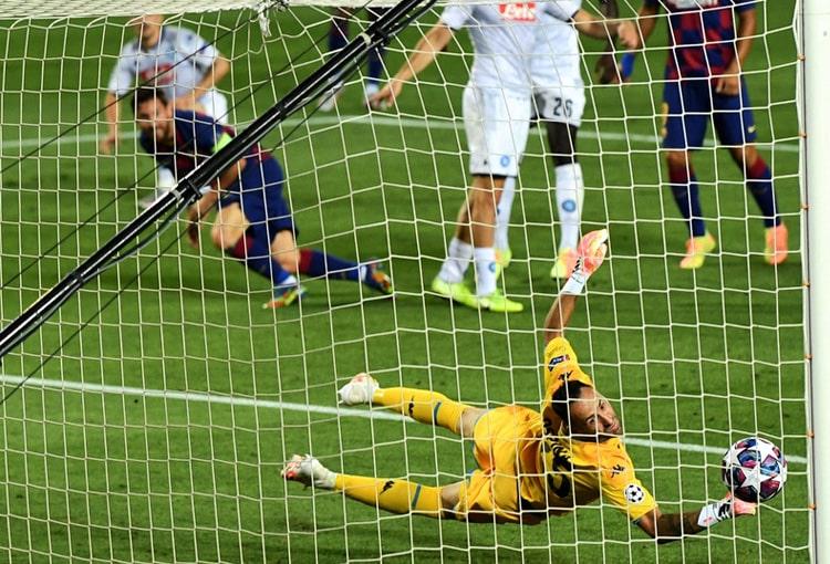 David Ospina, Barcelona 3-1 Napoli, Champions League 2019-20