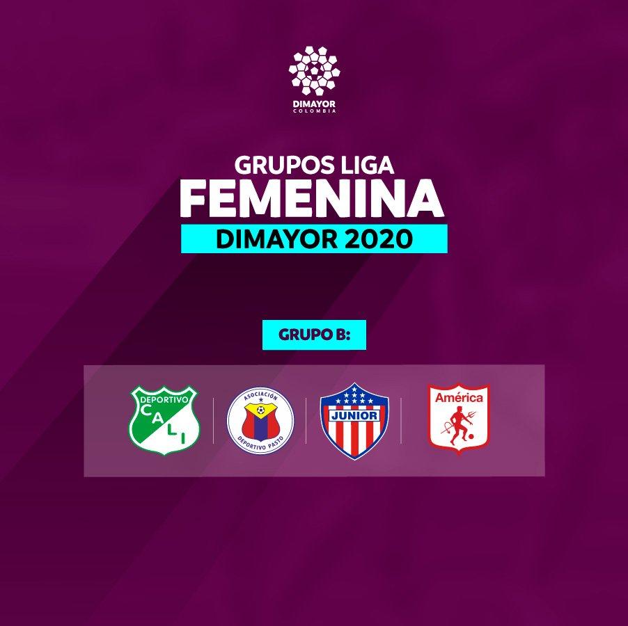 Dimayor, Liga Femenina 2020, grupo B