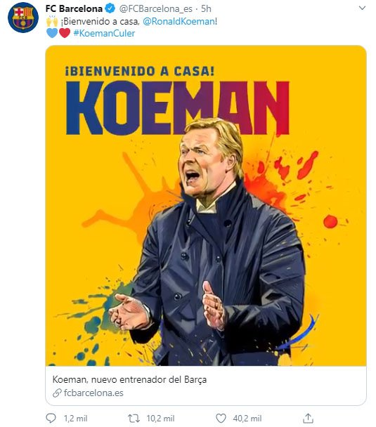 FC Barcelona, Ronald Koeman, presentación